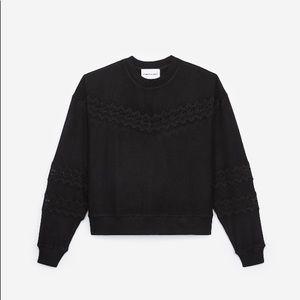 Kooples X Sport | NWT Sweet Fleece & Lace Pullover